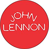 """John Lennon - Rock and Roll Logo (White On Red) - 1 1/2"""" Button / Pin"""