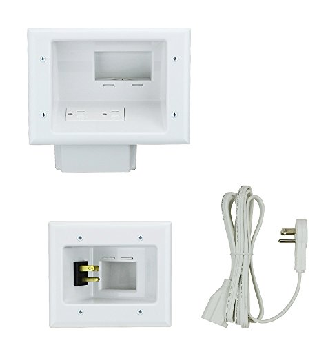 datacomm-electronics-45-0024-wh-recessed-pro-power-kit-with-duplex-receptacle-and-straight-blade-inl