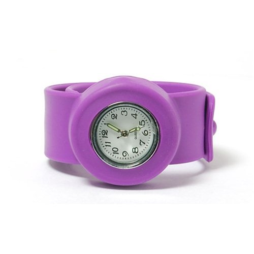 PURPLE Kids Slap On Quartz Silicone Sports Watch