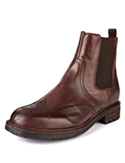 Autograph Leather Brogue Chelsea Boots
