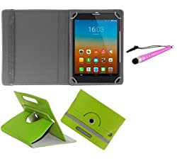 Gadget Decor (TM) PU LEATHER Rotating 360° Flip Case Cover With Stand For Wishtel Ira Icon 3G  + Stylus Capacitive Pen -Green