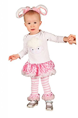 Baby Easter Polka Dots Rosettes Sheep Bodysuit Tutu Headband Warmers Costume