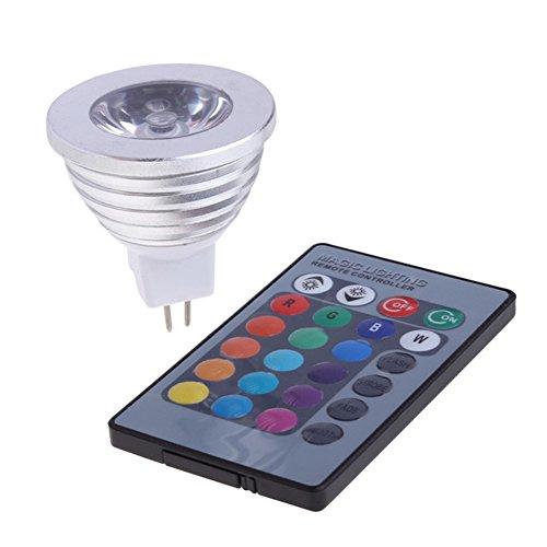 Tanbaby MR16 3W LED RGB Light Bulb Lamp Spotlight DC 12V Colorful lights Colors Changing + 24key IR Remote Controller Magic Lighting