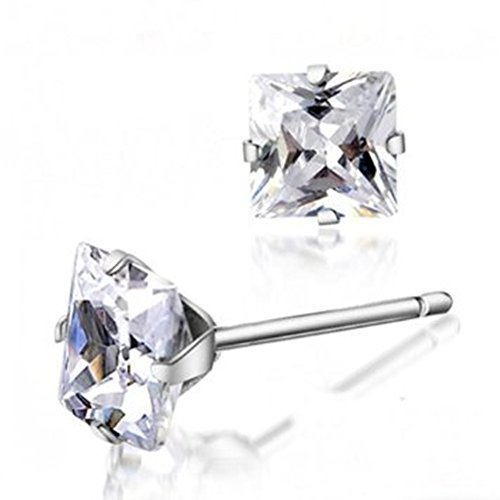 XT-XINTE 4M Unisex Silver Plating Studs Place