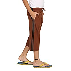 Clifton Boys Coloured Capri - Brown - XX-Large (12-13 Years)