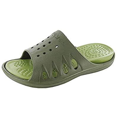 Dawgs - Women's Slide Dawg, Size's 6, 7, 8, and 9 in 4 Colors (6, Olive/Sage Green)