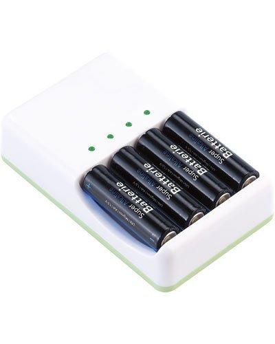Chargeurs 2 en 1 pour accus et piles alcalines AA / AAA