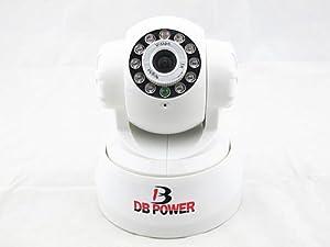 DBPOWER VA033K (Soporte Detección de Movimiento Alarma) Wifi Inalámbrica Cámara de Vigilancia de Seguridad, Monitor del Bebé Soporte iPhone y Android Teléfono Inteligente, Motorizado por Teléfono Móvil, 10 LED Infrarrojo, 12 Metros Visión Nocturna, Sonido Bidireccional, Micrófono y Altavoz Integrado, Pan 270 Grado Tilt 120 Grado (Blanco)