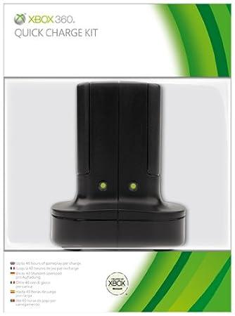 Chargeur batterie Quick Charge noir pour Xbox 360 [Importación francesa]