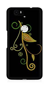 Amez designer printed 3d premium high quality back case cover for Huawei Nexus 6P (Abstract Dark 10)