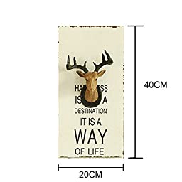 Kiven Industrial Hanging Wall Art Creative Fawn Wall Decoration