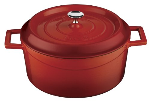 Lava Signature Round Enameled Cast-Iron Dutch Oven - 4 3/4 Quart, Cayenne Red front-316329