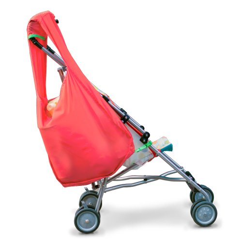 Sureshop Reusable Shopping Bag That Clips On To Keep Strollers Standing front-328291