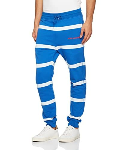 Love Moschino Sweatpants blau/weiß