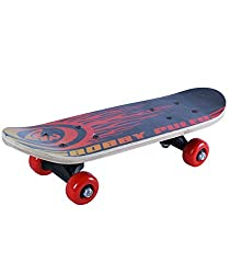 NOVICZ Wooden Kids Skating Board Skate Board Red