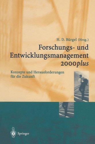 Forschungs- und Entwicklungsmanagement 2000plus Konzepte und Herausforderungen für die Zukunft (Edition Alcatel SEL Stiftung)  (Tapa Blanda)