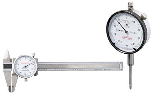 Grizzly G9784 4-Inch Dia Length Caliper/Indicator Set (Dial Caliper Grizzly compare prices)