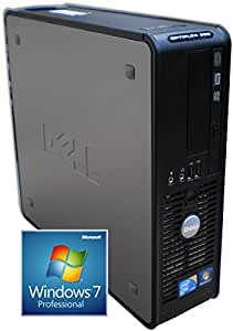 Windows 7 - Dell OptiPlex 760 Desktop Computer - Powerful Intel Pentium Dual Core 2.5GHz Processor - Wi Fi Enabled - 250GB Hard Drive - 4GB Memory - DVD RW (Writer)