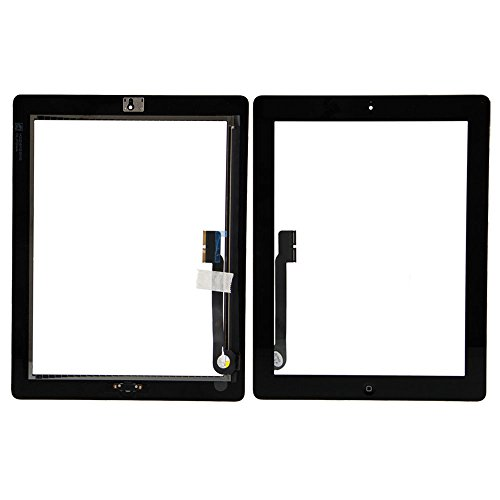 Group Vertical® Black Touch Screen Display Digitizer Complete Assembly + Home Button Menu for Apple iPad 3 3rd Generation A1416 A1403 A1430