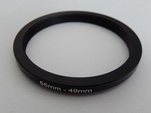 vhbw Step UP Filter-Adapter 55mm-49mm schwarz für Kamera Panasonic, Pentax, Ricoh, Samsung, Sigma, Sony, Tamron
