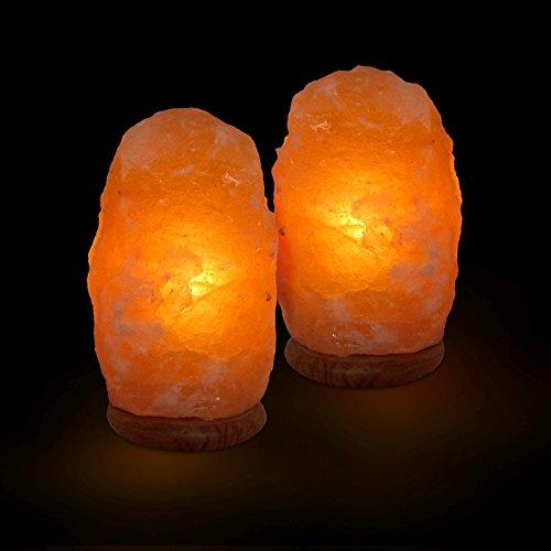 2 x Biova Salz Kristall Stein Lampe Salzlampe Leuchte ca. 2,5 3,5 kg in 1A Qualität Picture