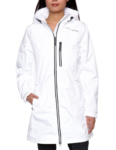 Helly Hansen Women's Long Belfast Jacket, White, Medium