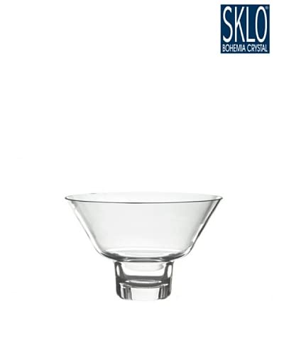 Cristal de Bohemia Portavelas Columna Votive Cónico Transparente