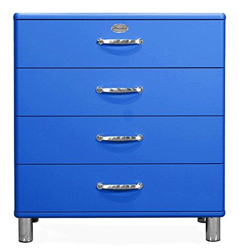 Tenzo 5124-003 Malibu Designer Kommode Holz, blau, 41 x 86 x 92 cm