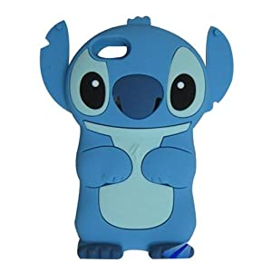 S9D Cute 3D Stitch Silicone Cover Case for Apple Ipod Touch 4 Gen 4G 4th TC17 Blue
