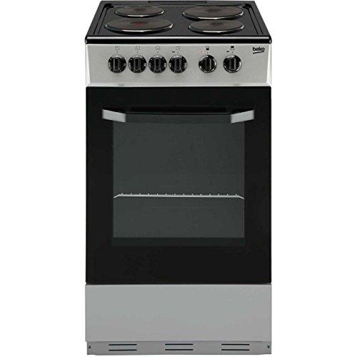 Beko BS530S 50cm Single Electric Cooker in Silver