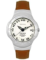 Seiko Men's SMA169P1 Premier Leather Kinetic Watch