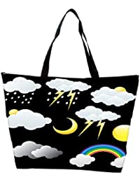 Snoogg Weather Icons Vectors Waterproof Bag Made Of High Strength Nylon