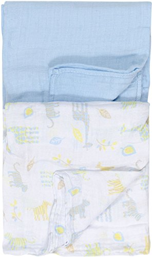 Chick Pea Baby Boy Safari Theme 2 Pack Swaddle Blankets