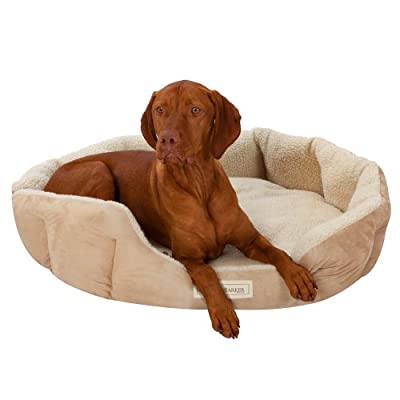 Ruff & Barker® Oval Dog Bed - NATURAL Dog Nest - LARGE Dog Beds 95cm x 85cm x 21cm