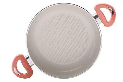 "Essenso Ecotouch Lazio Enamel-Coated Egg Pan with Nonstick Ceramic Interior, PTFE / PFOA Free, 7.8"", Orange"
