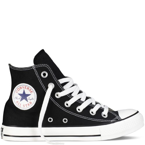 Converse Chuck Taylor All Star Shoes (M9160) Hi Top in Black, Size: 5 D(M) US Mens / 7 B(M) US Womens, Color: Black