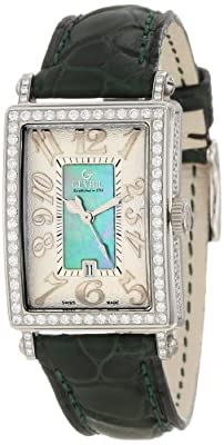Gevril Women's 7246NV Mini Quartz Avenue of Americas Green Diamond Watch