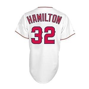 MLB Los Angeles Angels Mens Josh Hamilton 32 Angels Mens Replica Jersey by Majestic