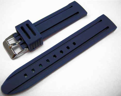 Blue Silicone Watch Strap Band 18mm
