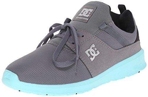 DC Women's Heathrow Skate Shoe, Grey/Black/Blue, 10.5 M US