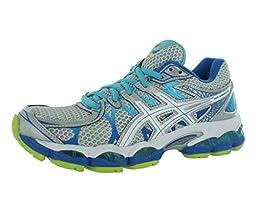 ASICS Women\'s Gel-Nimbus 16 Running Shoe,Lightning/White/Turquoise,7 M US