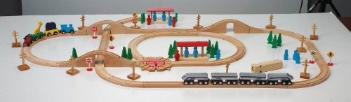 Deluxe Express Train Set - 100 Piece Set