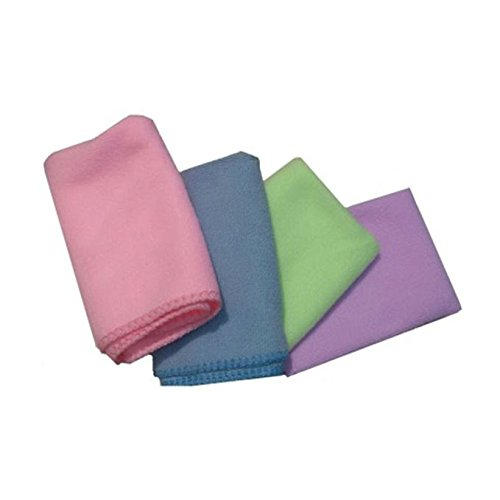 Retina 300 Vehicle Washing Cloth (Set of 4, Multicolour)