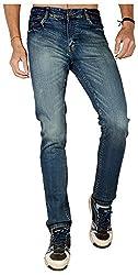 Dangerous Flyer Men's Slim Fit Jeans (DG-A, Blue, 34