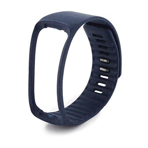 NIUTOP® Bande di ricambio con Metal Clasps per Samsung Galaxy Gear Fit / Wireless Activity braccialetto Sport Wristband / Samsung Galaxy Gear Fit Bracciale Sport Arm Band (No tracker, Replacement Bands Only) (navy)