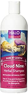 Halo Cloud Nine Herbal Shampoo for Dogs and Cats, 16oz