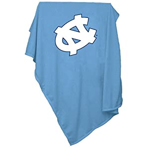 North Carolina Tar Heels NCAA Sweatshirt Blanket Throw by Logo Chair