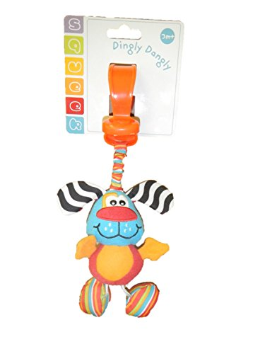 Dingly Dangly Plush Dog Stroller Toy