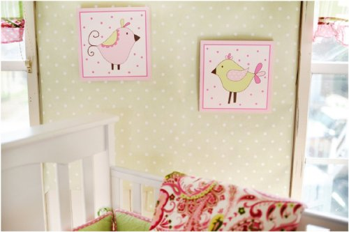 My Baby Sam Paisley Splash Wall Art, Pink (Discontinued by Manufacturer)