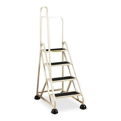 Cramer Industries, Inc. 4-Step Ladder, w/ Left Handrail, 24-5/8